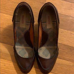 Kenzo brown block heel 7.5 (37.5)